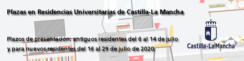 Plazas en Residencias Universitarias de Castilla-la Mancha